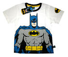 Boys BATMAN short sleeve white cotton summer t-shirt Size S-XL 3-8y Free Ship