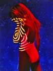 Colorful photo Model Hot girl Red hair Wall Print POSTER