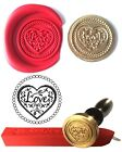 Wax Stamp Seal +1 stick Red Wax HEART Envelope Invite Craft Cards Wedding 115