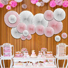 1Pc Wedding Home Party Decor Handmade Pinwheels Flowers Tissue Paper Fan Flowers