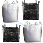 FIBC NEW BULK BAGS BUILDERS GARDEN WASTE 1 TONNE JUMBO STORAGE SACKS BLACK WHITE