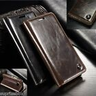 DESIGNER GENUINE LEATHER RETRO WALLET STAND CASE COVER APPLE IPHONE 5 5S & SE