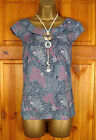 NEW WHITE STUFF LADIES BLUE NAVY RED FLORAL COTTON MIX SUMMER TUNIC TOP UK 8-16