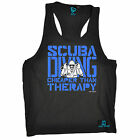 Scuba Cheaper Than Therapy Mens Vest Gear Diver Dive Diving birthday funny gift