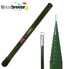 Travel Telescopic Flag Pole, Only 57cm Long when collapse, Green in Colour