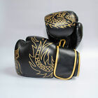 ONYX Gold Dragon Synthetic Leather Boxing Gloves - Thai Boxing Kickboxing