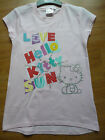 Girls HELLO KITTY baby pink sequin T-shirt Ages 2 3 4 5 6 7 & 8 years