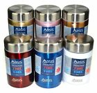 NEW OASIS INSULATED FOOD JAR 450ml Double Wall Hot Cold Stainless Steel 6 COLOUR
