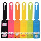 Cute Silicone Travel Luggage Tags Baggage Suitcase Bag Labels Name Address