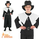 Child Puritan Boys Costume Historical Book Week Day Fancy Dress Outfit New