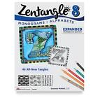 Zentangle 8 Monograms Alphabets - Expanded Workbook Edition By Design Originals
