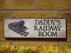 PERSONALISED MODELLING SHED SIGN GARDEN SIGN RAILWAY LOCOMOTIVE SIGN GARAGE SIGN