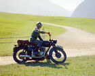 The Great Escape Steve McQueen Triumph Motorcycle Uniform Alps Poster or Photo $19.99 USD