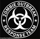 """6"""" high Zombie Outbreak Response Window Decal ~ Choose Decal Color"""