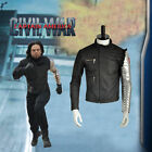 Captain America Civil War Winter Soldier Bucky Barnes Cosplay Costume Only Coat