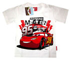 Lightning McQueen boys short sleeve cotton summer t-shirt Sz S-XL 3-7y Free Ship