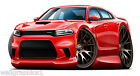 2016 Dodge Hellcat Charger SRT Wall Stickers Graphic Poster Decal Cling Man Cave