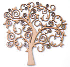 Wooden MDF Tree Shape Craft Blank Decoupage Family Tree Wedding Guestbook Swirls