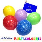 10 Happy Eid Mubarak Decoration Balloons Mixed Colours Islam Ramadhan Kids