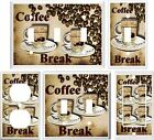 COFFEE BREAK KITCHEN DECOR LIGHT SWITCH COVER PLATE OR OUTLET V811