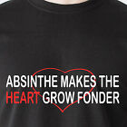 Absinthe Makes the Heart Grow Fonder date internet vintage retro Funny T-Shirt image