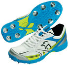 Kookaburra Professional 750 Lace Up Running Training Spike Cricket Shoes Blue