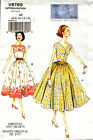 Vogue Pattern V8789 8789 Ladies Dress Vintage 1957 Reproduction 6-14 14-22