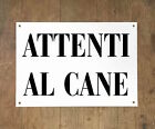 ATTENTI AL CANE 1 Targa cartello metallo Beware of dog sign metal