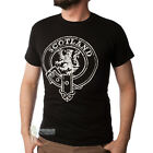 MEN'S PRINT T-SHIRT - SCOTLAND BUCKLE DESIGN - BLACK - SIZE OPTIONS!