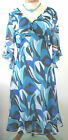 TURQUOISE AND BLUE LIGHT WEIGHT SUMMER DRESS SIZE 16 NEW