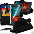 Leather Wallet Phone Case✔In Ear Stereo Headset for Vodafone Smart Mini 7