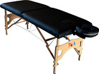 TOA Portable Folding Spa Facial Therapy Equipment Massage Table Set w/Carry Case