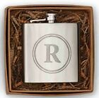 Initial Flask by Mud Pie, Stainless Steel, New in Gift Box