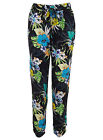 MISS SELFRIDGE NEW BLACK BLUE FLORAL TROPICAL PRINT SUMMER TROUSERS RRP £28 6-16