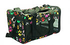 DOG TRAVEL CARRIER ~ AIRLINE APPROVED ~ PAW PRINT PATTERN ~ MESH SHOULD BAG