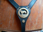NEW ANY MASTIFF LEATHER HARNESS WITH BRASS plaque in brown or black