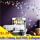 Small Butterfly Multi-Colors Fashion Flower Removable Decor Wall Sticker Art DIY
