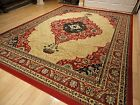 5x8 carpet - Large Red Area Rug 8x10 Persian Rug 5x8 Carpet 8x11 Cream Traditional Rugs 5x7
