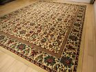 Traditional Oriental All Over Area Rug Persian Style Carpet 8x10 Cream Rugs 5x8