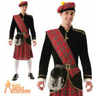 Adult Deluxe Scotsman Costume Mens Scottish Kilt Fancy Dress Outfit New