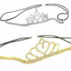 Bridal Tiara Diamante Rhinestone Crown Wedding Party Prom Elastic Headband