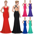 New Mermaid Black Red Blue Prom Wedding Formal Evening Cocktail Party Long Dress