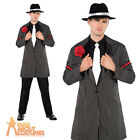 Adult Gangster Zoot Suit Mobster Boss Mafia 1920s Fancy Dress Outfit New