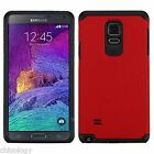 For Samsung Galaxy Note 4 Slim Hybrid Hard Armor Protective Case Stand Cover