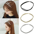 Women Trendy Elastic Bling Hair Band Double Braided Glitter Headband Hair Hoop