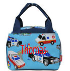 Personalized Rescue Police Fire Truck Insulated Cooler Thermal Tote Lunch Bag