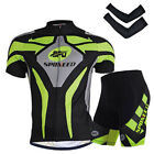 Sponeed Summer Men's Bike Uniform Road Cyclist Wear Jerseys and Bicycle Shorts