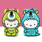 Monsters HelloKitty Cat Silicone Back Case Cover For Samsung Galaxy S5 & Note 4