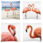 Pink Flamingoes Patio Unit Deck Chair Throw Decor Cushion Case~BN~Image 2Sides