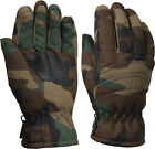 Kids Woodland Camouflage Thermoblock Insulated Cold Weather Gloves